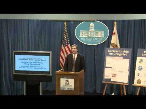 CSLB Consumer Alert News Conference (June 20, 2012)