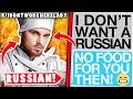 Ridontworkherelady Drunk American VS Russian Chef