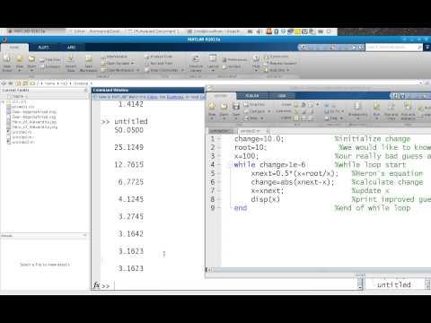 L8 1 herons method matlab example
