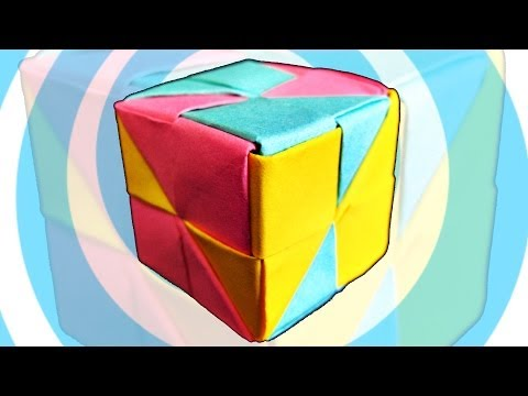 Easy Modular Origami Cube Instructions ( 6 pieces)