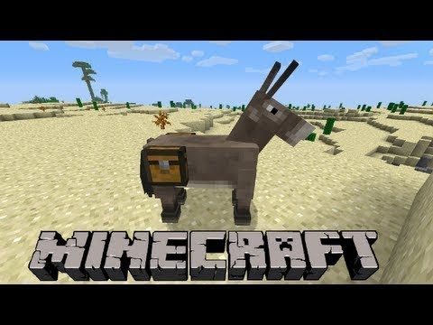 Minecraft how to put chests on Donkey's