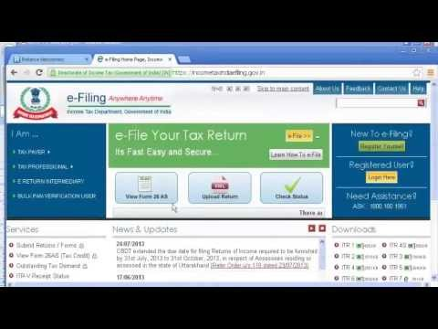 HOW TO FILE INCOME TAX RETURN ONLINE |  AY 2014 15 | ENGLISH