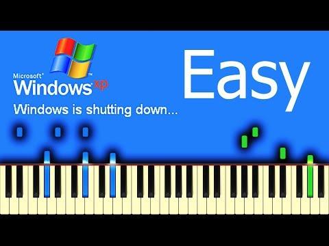 WINDOWS XP SHUTDOWN SOUND - Piano Tutorial