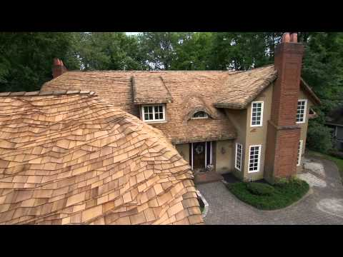 Steam Bent Cedar Roof by the ShakeGuys