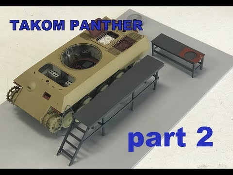 Building The Takom Panther part 2 full interior factory build