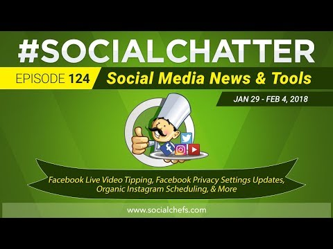 Social Media Marketing Talk Show 124 - Schedule Instagram posts organically & Facebook Live Tipping
