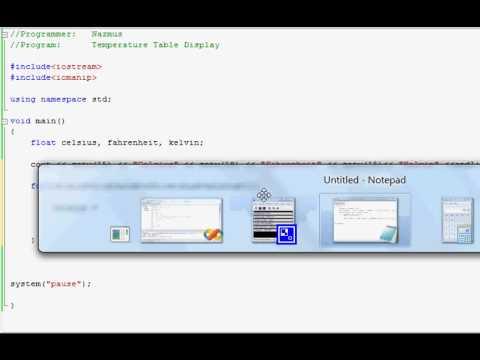 Easy Programming - Beginner C++ Tutorial - Temperature Table Display (8)