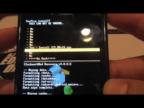 Root & Install Ice Cream Sandwich On The Samsung Galaxy S Vibrant No Computer Needed