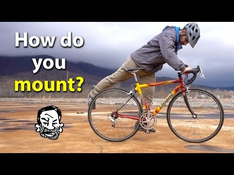 How to get on a bike