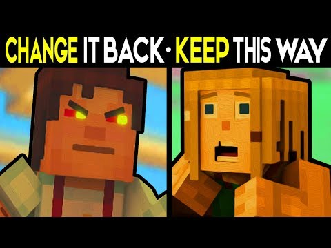 KEEP IT THIS WAY or CHANGE IT BACK! Alternative Choices - Minecraft: Story Mode Season 2 Episode 5