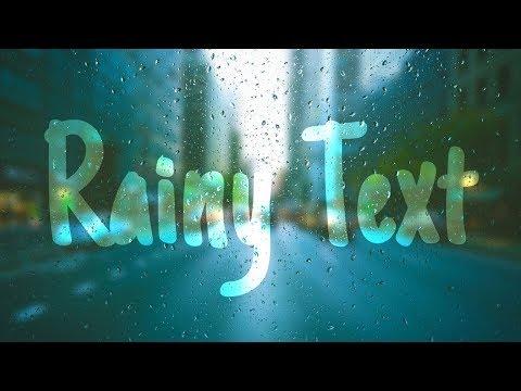 CSS Rainy Text Effects   Html CSS Photoshop