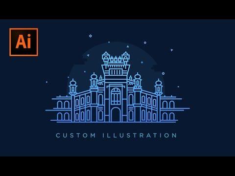 Sneak pick of Curzon Hall illustration   Adobe illustrator CC