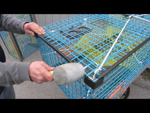 DIY Installing Plastic Edge Protectors on a Lobster Trap