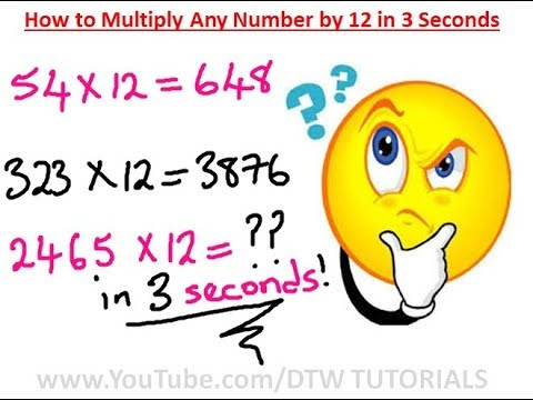 How to Multiply Any Number by 12 in 3 Seconds | Maths Trick
