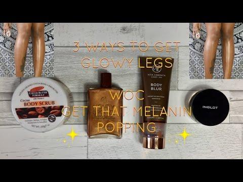 3 WAYS TO GET GLOWY LEGS | WOC | CHASING BEAUTY | Body shop , Vita Liberata, Inglot, Palmers