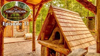 Wooden Roof Shelter | The FOREST KITCHEN | Off Grid Log Cabin Build | Ep.11 S1