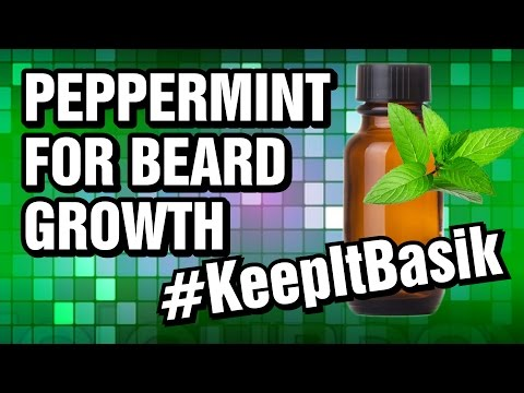 Peppermint Oil for Beard Growth - #KeepItBasik