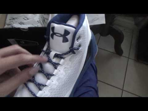 Under Armour Curry 3 Blackout Navy Unboxing/Review