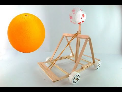 How to make mini Catapult from Popsicle Sticks