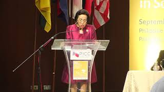 Delia Domingo Albert speaks at ASEAN conference on peace and violent extremism
