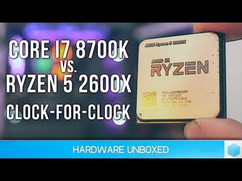 Ryzen 5 2600X vs. Core i7-8700K IPC Comparison, AMD's Hot On Intel's Heels!