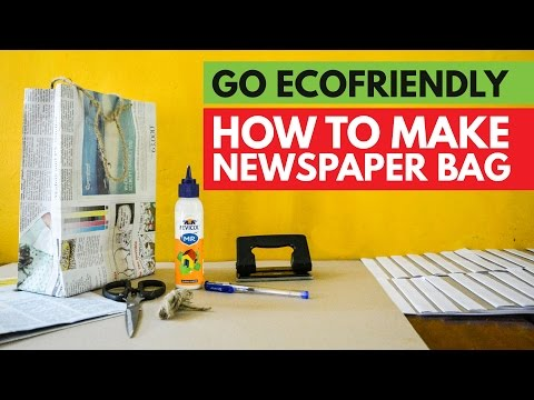 HOW TO MAKE NEWSPAPER BAG simple steps | go ecofriendly | simple method to follow |