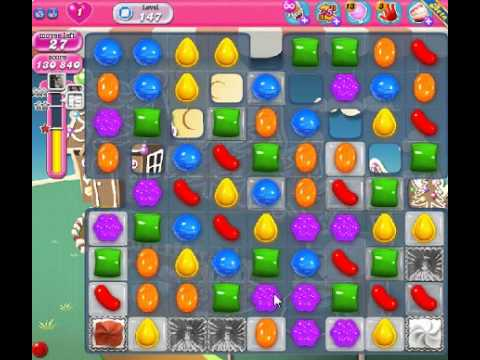 How to beat Candy Crush Saga Level 147 - 2 Stars - No Boosters - 223,940pts