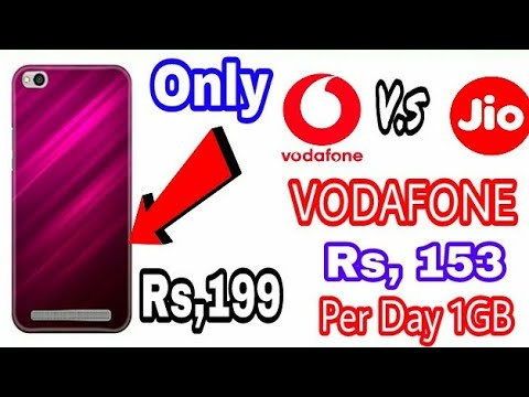 JIO V.s VODAFONE | VODAFONE Rs,153 Per Day 1GB 4G DATA | Rs, 199 MI 4A & 5A BEST BACK COVER