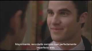 Escena eliminada de Glee 3 temporada Blaine y Kurt Subtitulado