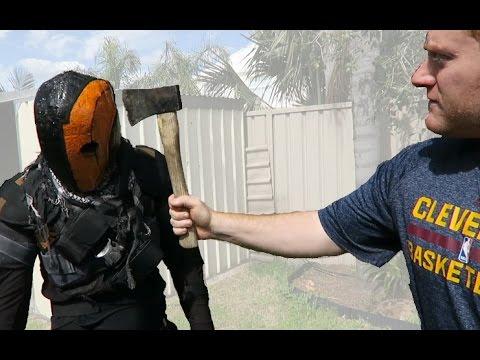 Fibreglassing my Deathstroke Helmet