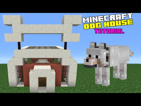Minecraft Tutorial: How To Make A Dog House