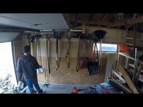 Garden tool storage rack diy simple effective cheap