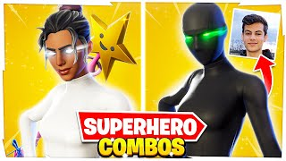 5 NEW TRYHARD SUPERHERO SKIN COMBOS IN FORTNITE! (PROS Are Using These Combos)