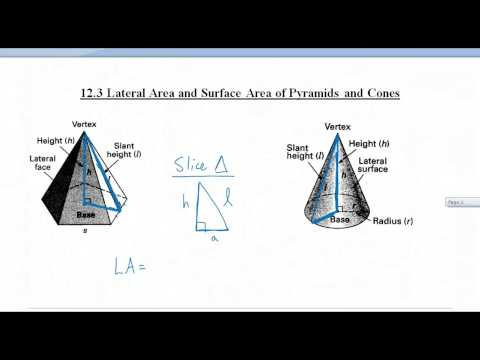 12.3 Lateral Area and Surface Area of Pyramids and Cones