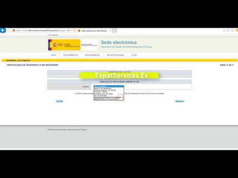 How to book an online appointment with Spanish immigration - Foreigners office