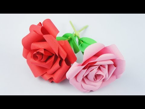 How To Make Paper Rose - DIY Rose - Easy Craft TCraft
