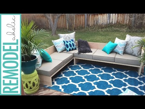 DIY Modern Outdoor Sofa Sectional | #plywoodpretty