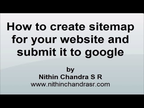 Create sitemap for your website and submit it to google | SEO