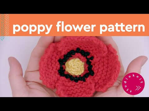 How to Knit a Poppy Flower | Summer Knit Series