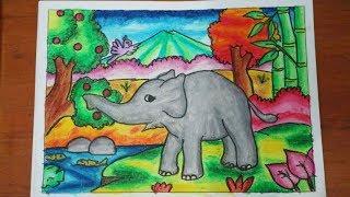 Tutorial Mewarnai Gajah Dengan Crayon 5 How To Color With Oil Pastels