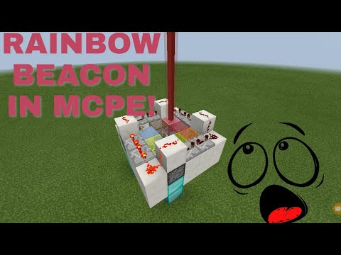 how to make a rainbow beacon in Mcpe!