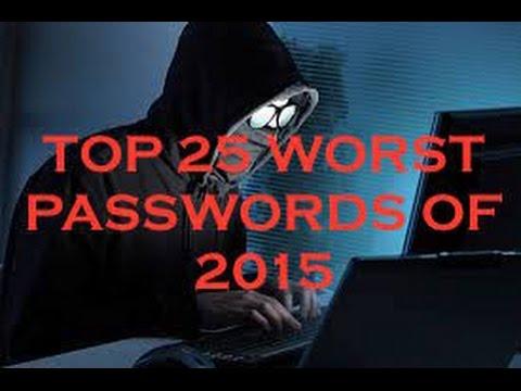 Top 25 Worst Passwords of 2015
