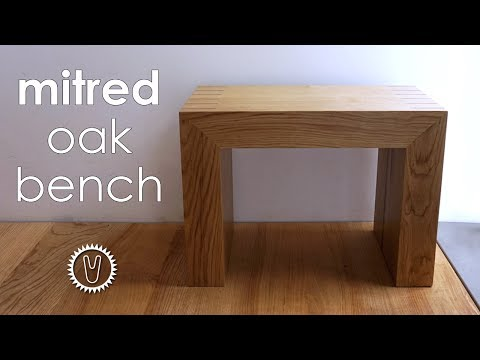 Mitred oak bench - how to make