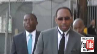 Stephen A  Smith talks about First Take vs Undisputed outside Jimmy Kimmel Live in Hollywood