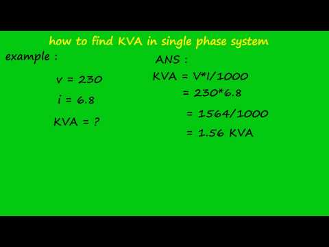 different between single phase kva and 3 phase kva