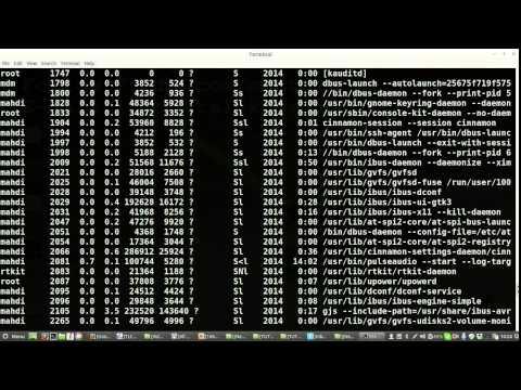 Bangla Linux Command Line Tutorial 11 Process Part 1