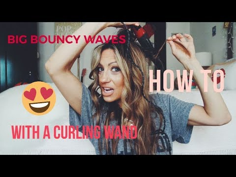 How to get BOUNCY WAVES for thin straight hair for women over 40!