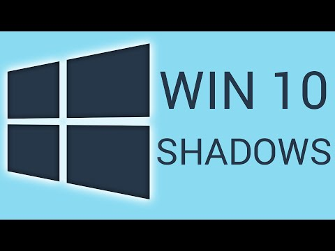 How To Disable Windows 10 Drop Shadows