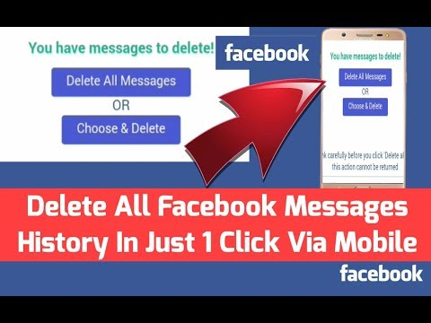How To Delete All Facebook Messages In Single Click Via Mobile