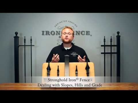 Dealing with Hills, Slopes and Grades when DIY Installing an Iron Fence or Aluminum Fence